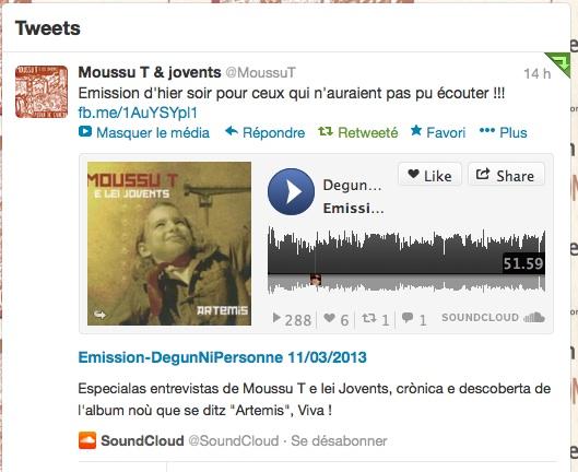 Tweet Moussu T